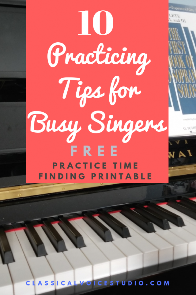 10 Practice Tips for Busy Singers
